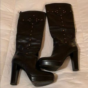 Tory Burch black platform boots